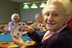 playing bridge